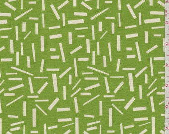 Sprinkle Clover Green Duck Canvas, Fabric By The Yard