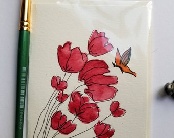 Watercolor and Ink Card