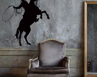Wall Decal Cowboy Lasso Texas Lone Star Best Seller Vinyl Decor caz1276