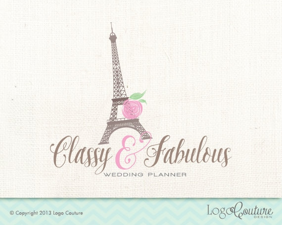 Premade Logo Classy and Fabulous Event and Wedding Planner