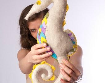 Seahorse Plush, Seahorse Toy, Seahorse Soft Toy, Stuffed Seahorse, Seahorse Softie, Stuffed Animal, Children Toy, Seahorse Art