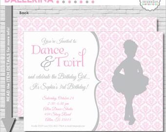 Ballet Birthday Invitation | Ballerina Party Invitation | Ballet Birthday Invitation | Dance Party Invitation | Amanda's Parties To Go