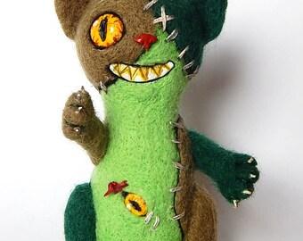 Bad Cat halloween doll wool doll voodoo doll kitty