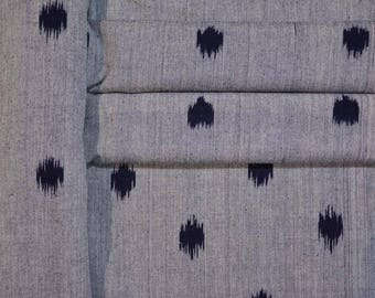 Grey And Black Ikat Upholstery Fabric