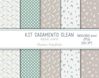 SALE wedding paper, clean, wedding pattern, wedding paper pack