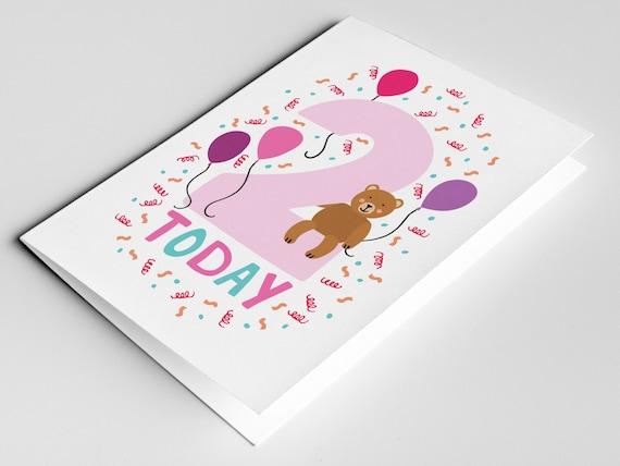 2 year old birthday card kids birthdays cards age cards like this item bookmarktalkfo Gallery