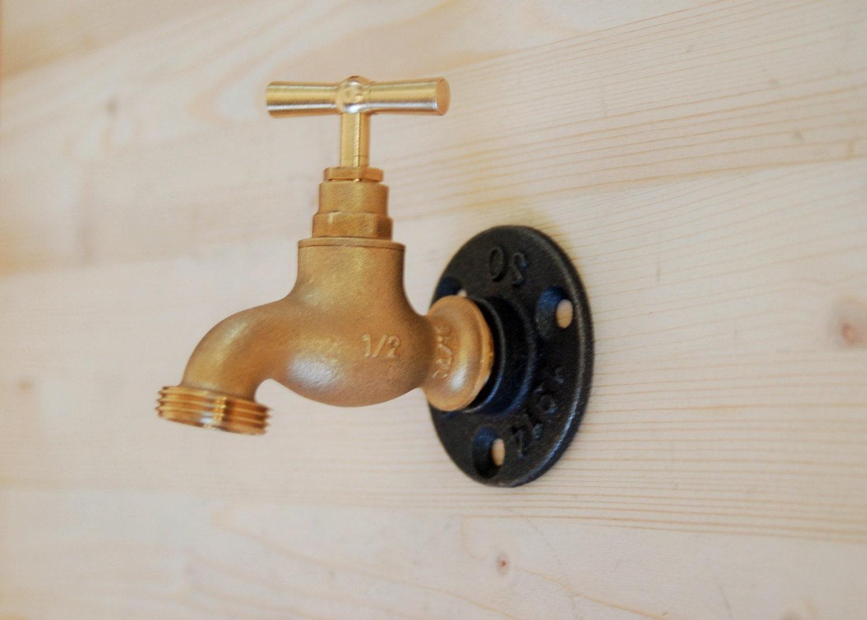 Coat rack coat hook faucet raw brass