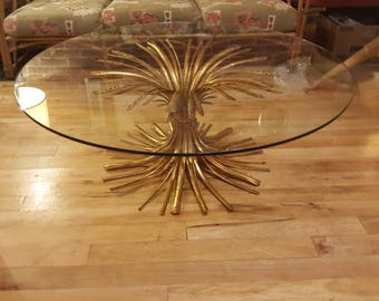 Gold Gilded Sheath of Wheat Coffee Table