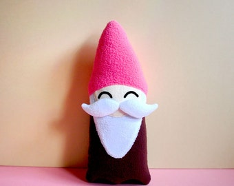 Moustache Gnome Plush Toy, Gnome Soft Toy, Gnome Stuffed Toy, Gnome Pillow, Gnome Cushion, MINI Size