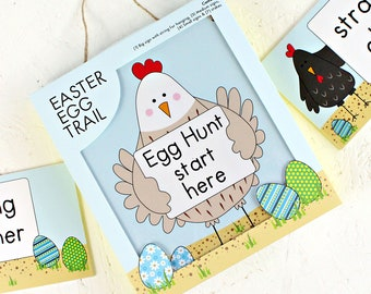 Easter Egg Hunt, Egg Hunt, Easter Egg Trail, Easter Game, Handmade Easter Gift, Gifts For Kids, Easter Egg, Easter Chickens, Easter Chicks