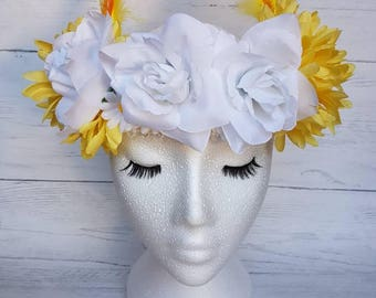 Festival headdress costume headdress floral headpiece