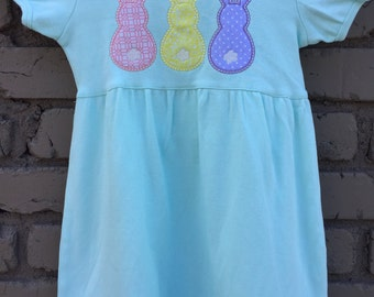 Easter Outfit - Easter Dress - Girls Easter Dress - Girls Bunny Dress - Personalized Easter - Embroidered Easter Dress -