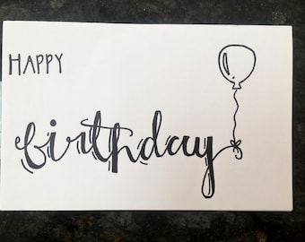 Calligraphy Birthday Card