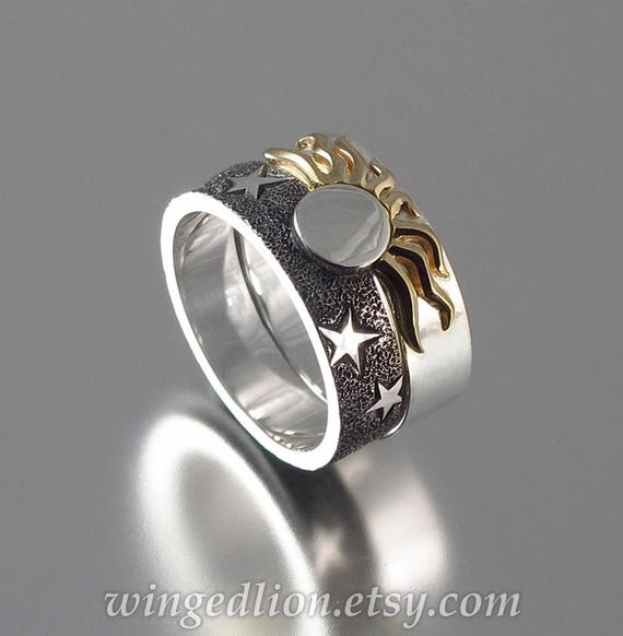 engagement diamond wedding cute ring crescent of sgvchbx moon rings and cz instead full set stars sun
