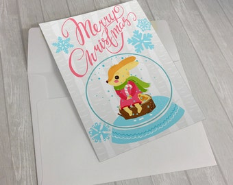 Christmas card, digital card, digital post card, downloadable card, instant download, floral card, birthday card