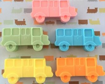 Large Bus Soap Favors: Baby Sprinkle Favors, Baby Shower Favors, Birthday favors, Wedding Favors, Transportation soap, School Bus  Soap