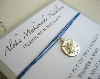 Aloha Wish Necklace - Sand Dollar