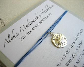 Aloha Wish Necklace - Sand Dollar