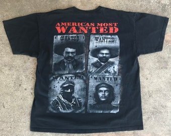 Americas Most Wanted Che Marcos Villa Zapata Revolution Culture Hero Men's T-Shirt