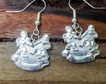 Danish Tea Spoon Earrings