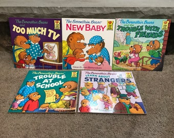 Vintage The Berenstain Bears 5 First Time Books Children's Paperbacks