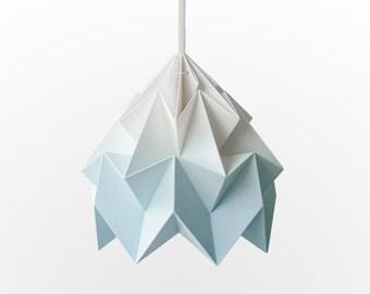 NEW: Moth origami pendant lampshade gradient blue