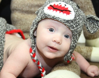 Sock Monkey, & matching Diaper Cover