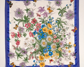 Summer Buzz Floral Butterfly Scarf