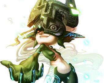 Zelda:  Twilight Princess - Midna 4x6 Print
