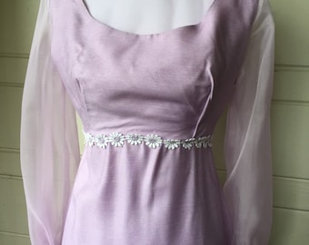 Vintage Lavender Prom Dress