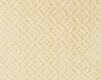 SCALAMANDRE ETHNIC CHIC Echo Velvet Fabric 10 Yards Chamois Cream