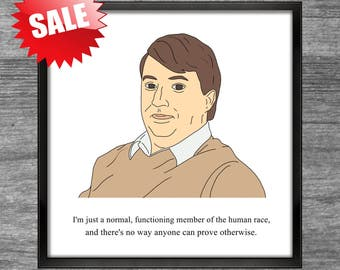 Peep Show Print | Mark | Normal functioning member of the human race