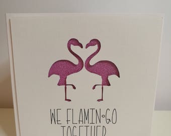 We Flamingo Together - Flamingo Card