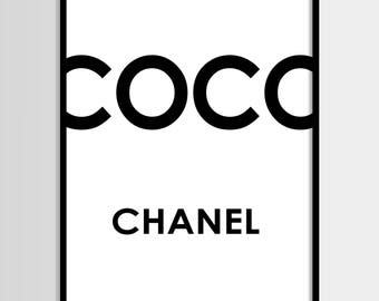 Coco Chanel drucken, moderne print, Mode Kunst, Chanel, Mode-Druck, digitale Kunst, bedruckbare Kunst, digitale Instant Download 16 x 20, 11 x 14