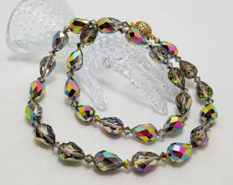 Vintage Iridescent Glass Necklace
