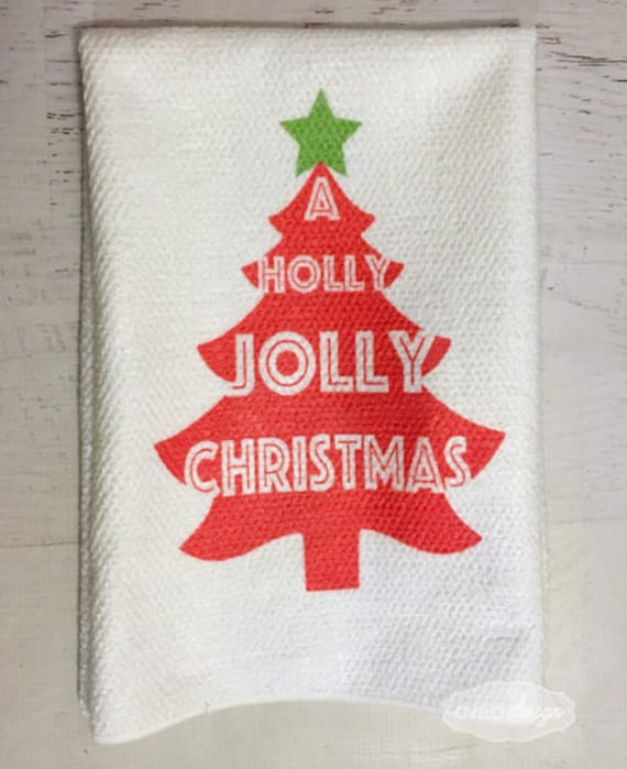 Christmas Tree Microfiber Kitchen Tea Towel