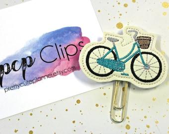 Planner Clip - Planner Bookmark - Vintage Bike Planner Planner clip - Bike planner clip- Felt Planner Clip - Feltie clip - Vinyl Clip
