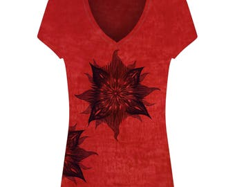 Tops for women / silk screen printing / t-shirt / tee / gift for her / Christmas / yoga for beginners / cotton / artwork / yoga / Namaste