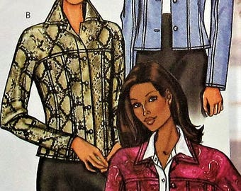 Jacket Sewing Pattern UNCUT Butterick 3595 Sizes 6-10
