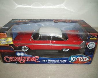 Christine 1958 Plymouth Fury Ertl Joy Ride Vintage Toy Car