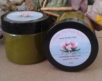 Pain salve, hemp oil, sore muscles, inflammation, arthritis, ease painful joints and muscles, moisturizing, ease stress and anxiety, PMS