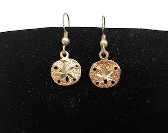 Sand Dollar Sterling Earrings, Sand Dollar Earrings, Sterling Earrings, Earrings, Sterling Silver Earrings, Earrings