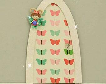Flutter Bug Fairy Door, Indoor Fairy Door, Skirting Board Fairy Door, Shelf Sitting Fairy Door, Handmade by Jennifer
