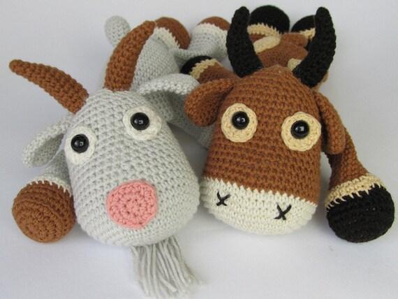 Amigurumi For Dummies Book : Goat lisa amigurumi crochet pattern pdf e book stuffed