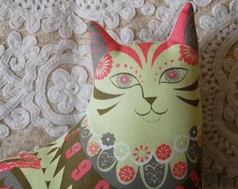 Marmaduke the Cat Tea Towel / Cloth Kit - A silkscreen design by Sarah Young