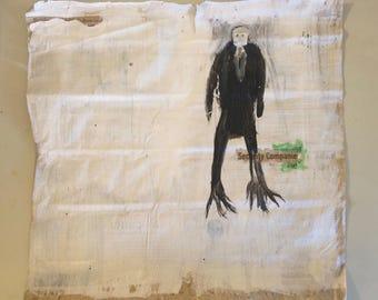 Contemporary Newspaper Acrylic Painting Street Art mixed media Graffitti by Stephen Shellen