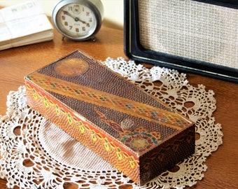 Antique Box - Storage Box - Trinket Box - Wooden Jewelry Box - Wood Keepsake Box - Box with Lid - Hand Carved Box - Jewelry Storage
