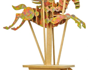 Pegasus hand operated automata kit - coloured -  LMS 100