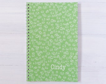 tiny houses personalized notebook - choose your color