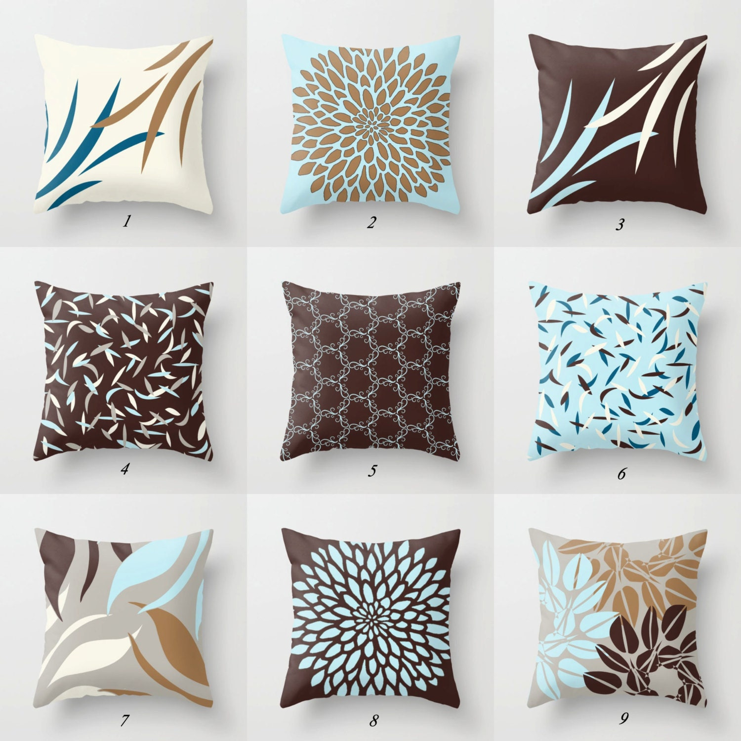 blue and brown pillows blue pillow cover brown cushions. Black Bedroom Furniture Sets. Home Design Ideas